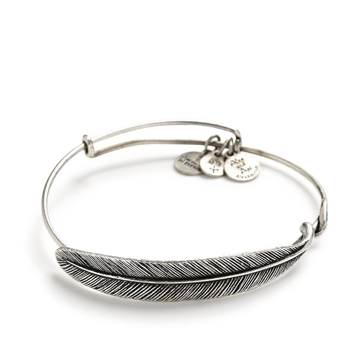 Just got this the other day, gorgeous jewelry to collect! Quill feather wrap bracelet by Alex and Ani #wedding #jewelry