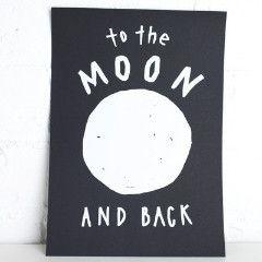 Art Print - Moon and Back