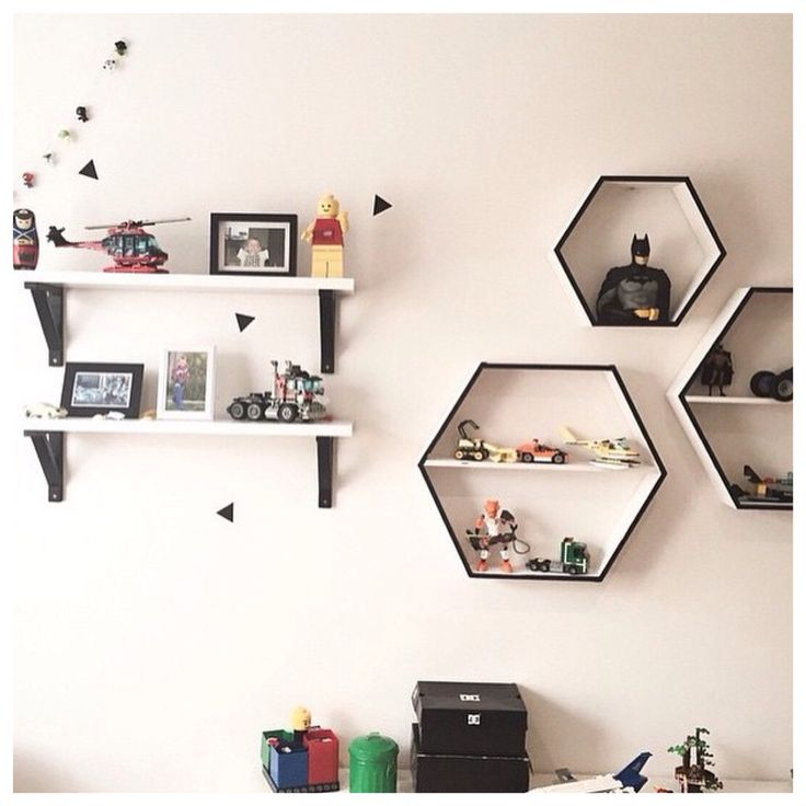 Kmart shadow box hack - painted white & black