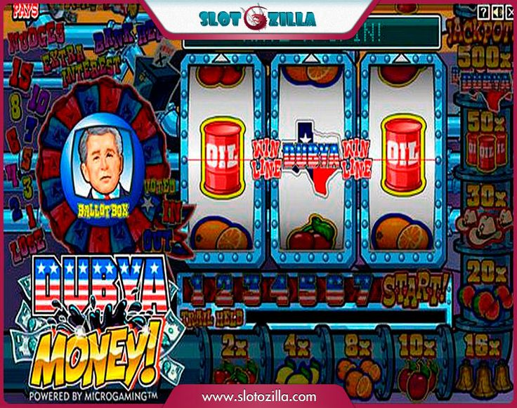 Dubya Money! free #slot_machine #game presented by www.Slotozilla.com - World's biggest source of #free_slots where you can play slots for fun, free of charge, instantly online (no download or registration required) . So, spin some reels at Slotozilla! Dubya Money! slots direct link: http://www.slotozilla.com/free-slots/dubya-money