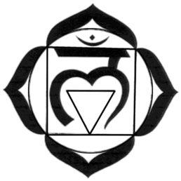 1st Chakra. Names: Root Chakra / Base Chakra / Muladhara | Form: 4-leaf-lotus