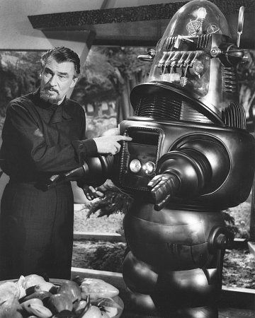 Walter Pidgeon and Robbie the Robot starring in Forbidden Planet (1956)