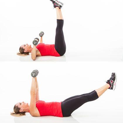 Chest Press Leg Drop www.gymra.com/... #fitness #exercise #weightloss #diet #fitspiration #fitspo #health