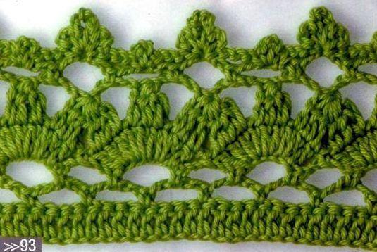 Patrón e instrucciones para aprender a tejer una linda puntilla o terminación a ganchillo o crochet. Puedes utilizarla para darle una linda terminación