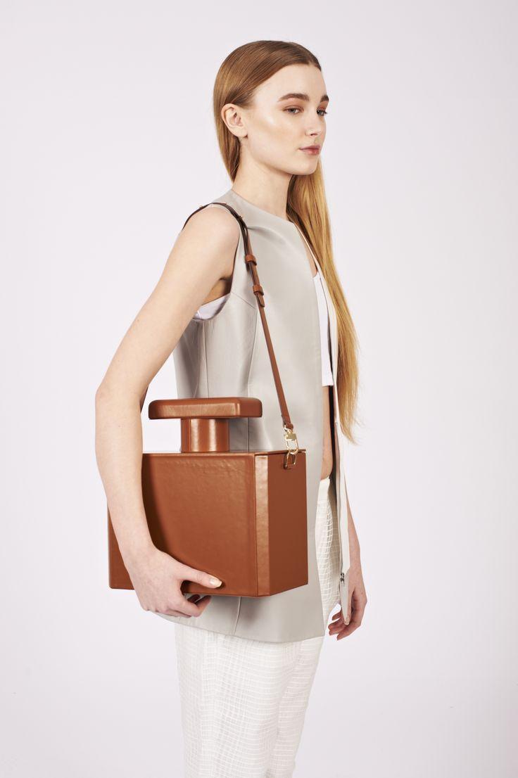 Edie Perfume Shaped shoulder bag  larissahadjio.com