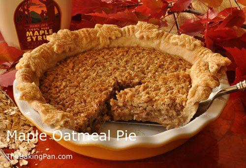 Pie Recipe   Maple Oatmeal Pie Recipe