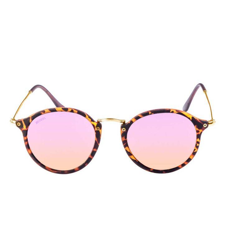 Urban Classics Spy ronde zonnebril havanna/rosé - Urban Classics | Att