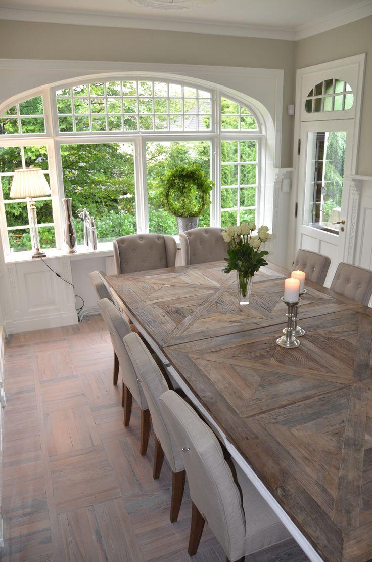 Een droom STAMTAFEL voor in de keuken voor alle mooie gesprekken l! #prachtig