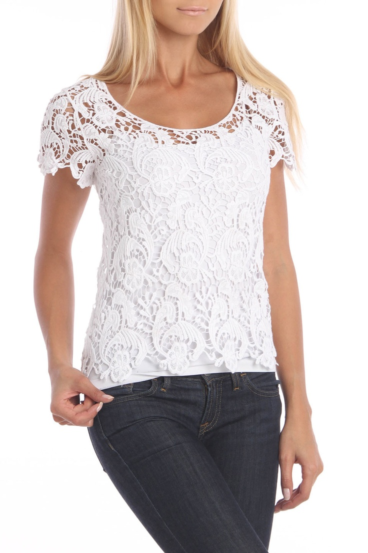 Lace Blouse In Whisper White