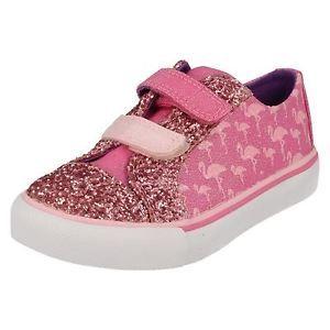 a chicas clarks casual lona zapatos brill carrera