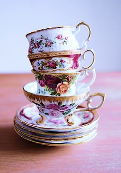 Antique floral tea cups are one of my favorite things in the world. I already own a few but there's always room for more! -P.S.