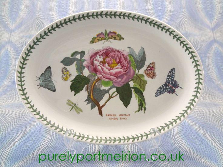 Portmeirion Botanic Garden 13 Inch Oval Platter Shrubby Peony