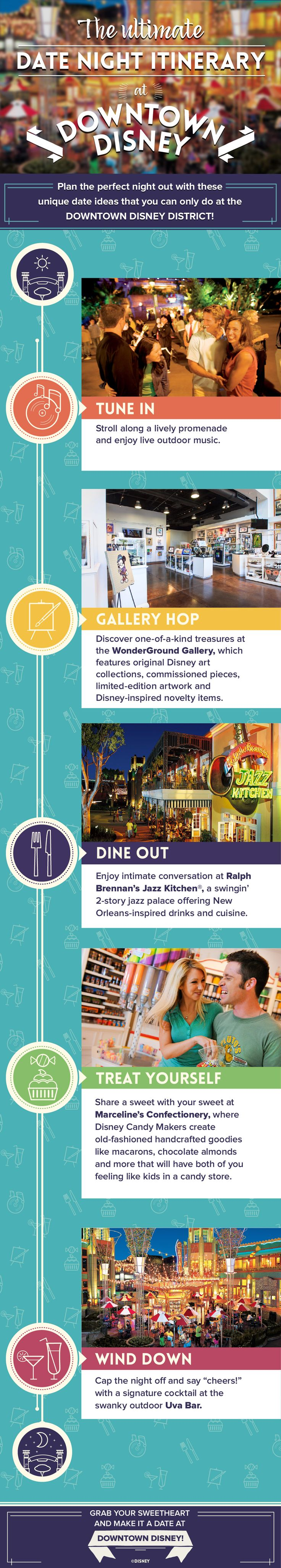 Plan the perfect date night with your sweetheart at the Downtown Disney District in Anaheim with this itinerary!