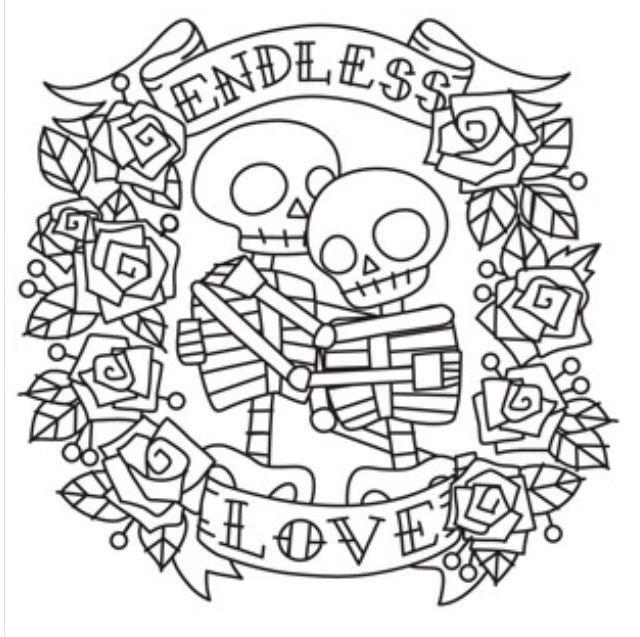 endless love * sugar skull pattern * delightfully creepy