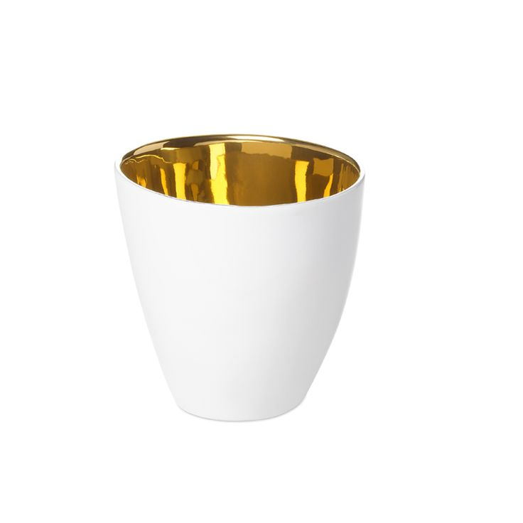 Kaffekopp gull