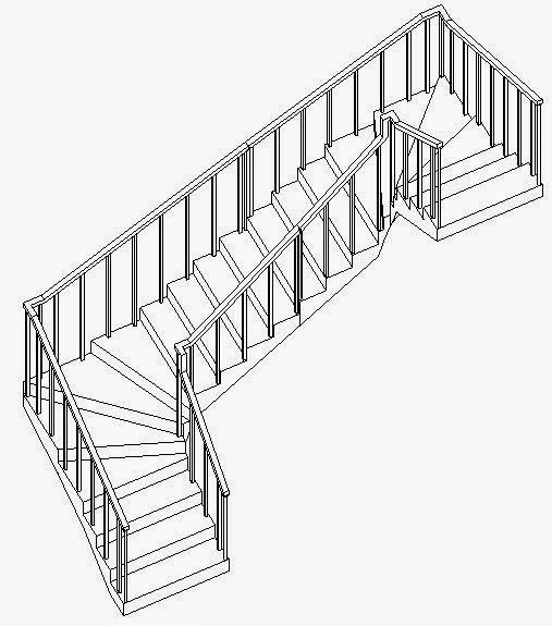 double winder stair plans - Google Search