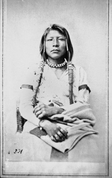SHOSHONE, 1869 The historic Shoshone Indians, of the Uto-Aztecan linguistic stock, occupied territory in California, Idaho, Nevada, Utah, and Wyoming, although most of them seemed to be settled in the Snake river area in Idaho.