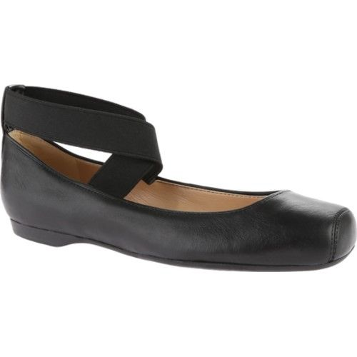 Jessica Simpson Women's Mandalaye Ballet Flat, Size: 5.5 M, Black Leather