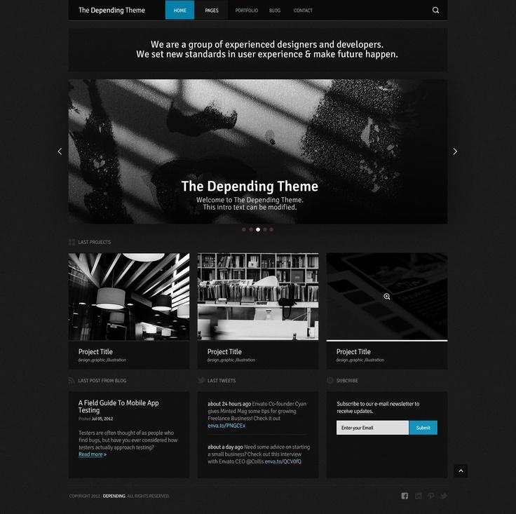 230 best PSD Website Templates images on Pinterest