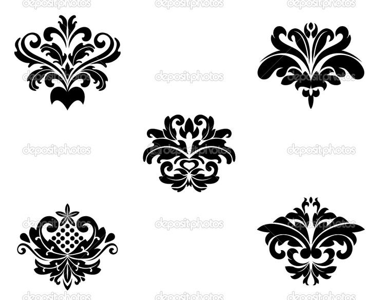 14 damask page border designs images black