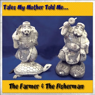 Tales My Mother Told Me Volume 2- Tale 7: The Farmer & The Fisherman  The tale is an old Chinese folktale that my mother told me  when I was a young boy.   I can recite it from memory because as a child I made my mother repeat this story over and over again. At the time it was just a funny story about a silly farmer that amused me. Now we can see the deeper meaning…