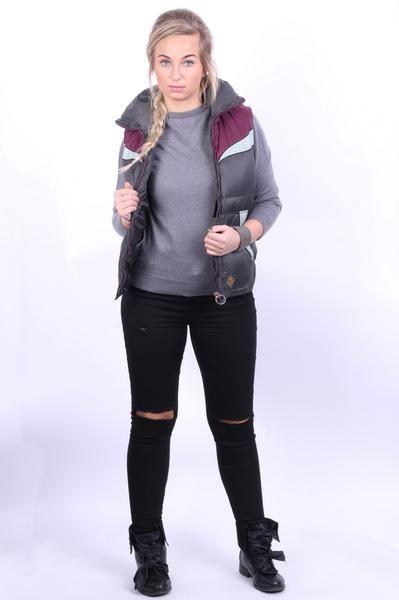 Diesel Womens S Bodywarmer Waterproof Jacket Sleeveless Grey - RetrospectClothes
