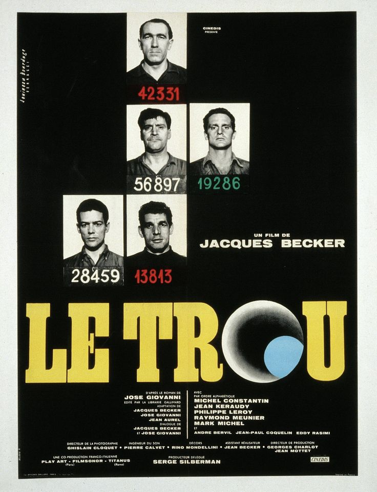 Le Trou - Jacques Becker - 1960 - René Ferracci