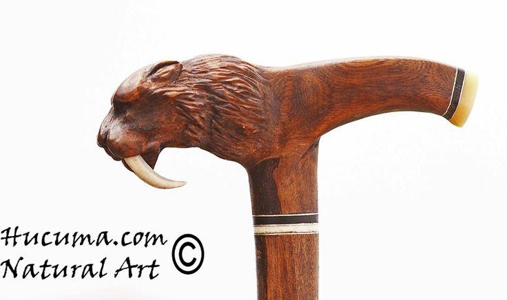 HUCUMA. artesanía en hueso y de diseño.: Bastón artesanal en madera.