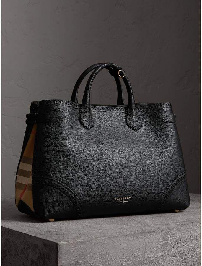 f0672b9eac572a Burberry The Large Banner in Brogue Detail Leather #ad #shopstyle #affliate  #purse #handbag #tote #burberry #Pradahandbags