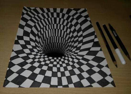 Drawing with  triple dimensions  !!!
