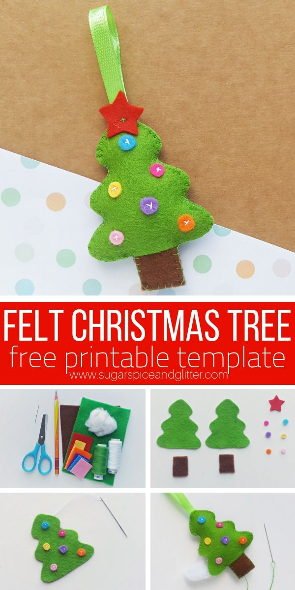 Grab Our Free Sewing Template For This Felt Christmas Tree Ornament Sewing Project For The Holidays Felt Christmas Tree Felt Christmas Christmas Tree Template