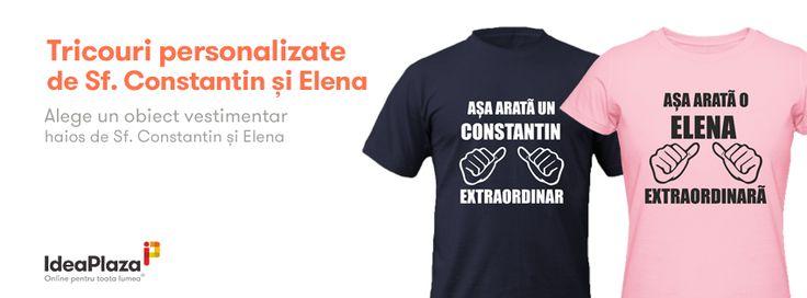 Pentru Sambata (21 Mai) cu ocazia zilei de Sfantul Constantin si Elena am realizat 2 noi tricouri haioase si extraordinare:  Asa arata o Elena extraordinara - http://goo.gl/aicmYo Asa arata un Constantin extraordinar - http://goo.gl/IA6m1e