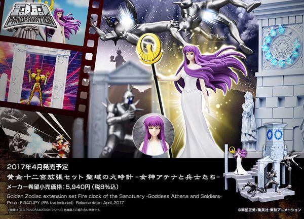 Directamente del universo de Saint Seiya  ( Los Caballeros del Zodíaco ), Bandai presenta la D.D.PANORAMATION Golden Zodiac extension set F...
