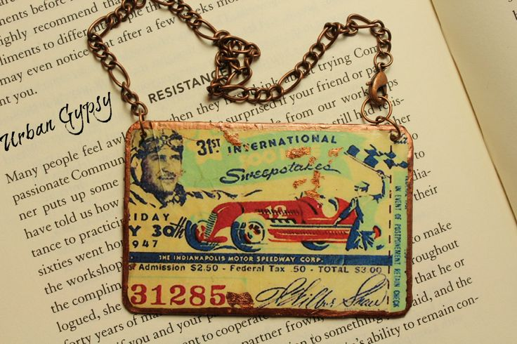 Indianapolis 500 Mile Race Wall Art Mirror Charm Car Decor Handmade  Hanging Ornament 500 Mile Race Indy Rear View Mirror by UrbanGypsyIndy on Etsy