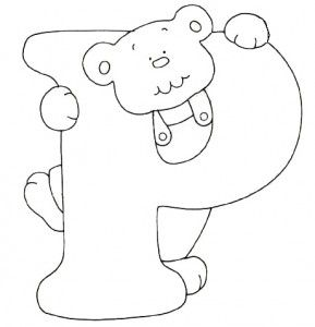 letter p coloring pages for kids preschool and kindergarten