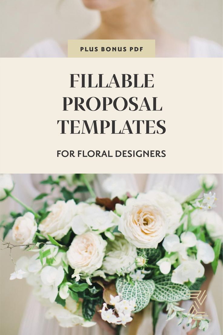 Fillable Proposal Templates 126 best Zimmerman Events