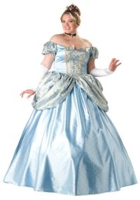 Super Deluxe Plus Size Cinderella Princess Costume-The Top Plus Size #Halloween Costumes - http://go.shr.lc/1wjICYC via @poshonabudget