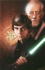Star Wars - With You - Luke and Obi Wan - Walt Disney Storybooks - World-Wide-Art.com - $185.00 #StarWars #Lucas