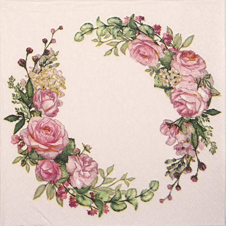декупаж картинки цветы венки хороша, стройна, мила