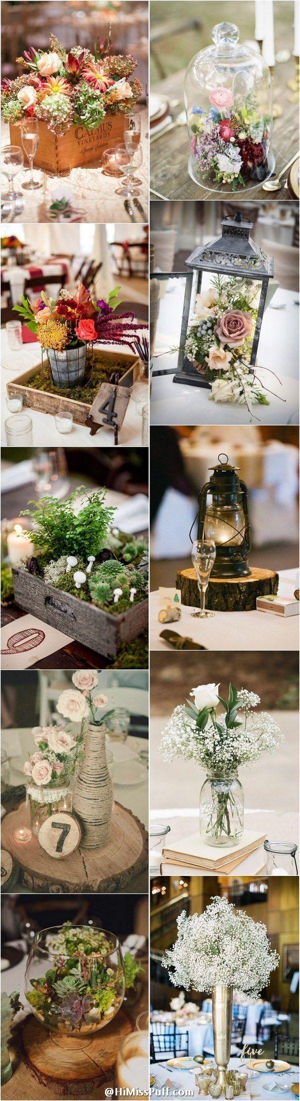 100 Country Rustic Wedding Centerpiece Ideas / http://www.himisspuff.com/rustic-wedding-centerpiece-ideas/