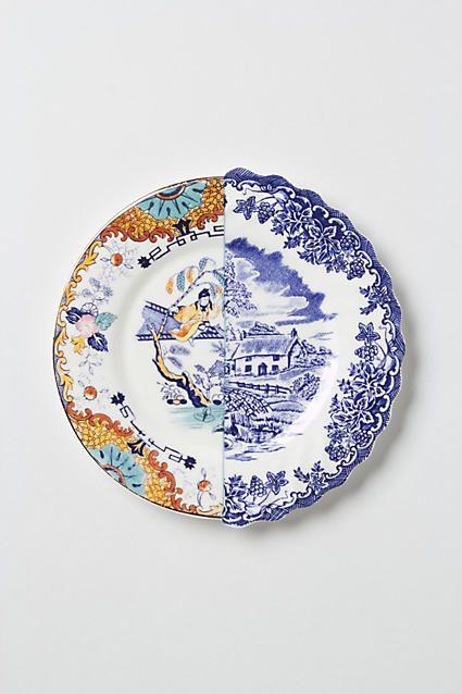 Unlikely Symmetry Orange Side Plate - anthropologie.com