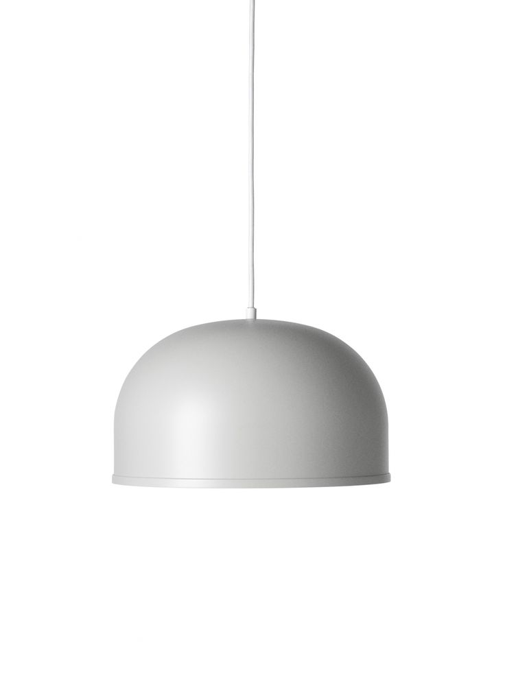 Lampa wisząca Pendant GM 30 - Light Grey (jasny szary) - Menu - DECO Salon. The #lamp will interact perfectly with simple forms of furniture and natural materials such as wood, glass, steel, brick, stone. #interiordesign #scandinaviandesign #forhome #lighting