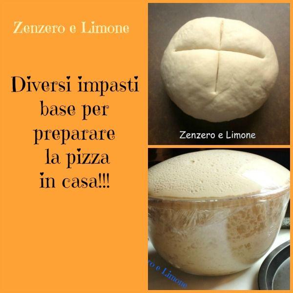 impasti base per pizza
