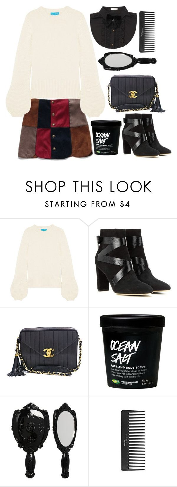 """""""Somethin' beautiful"""" by natjulieta ❤ liked on Polyvore featuring M.i.h Jeans, Jimmy Choo, Chanel, Anna Sui, Sephora Collection, ootd, Coordinates, TSJ and LilyBrown"""
