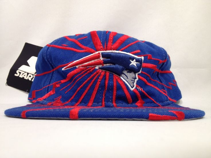 Image of Vintage Deadstock New England Patriots Starter Collision Snapback