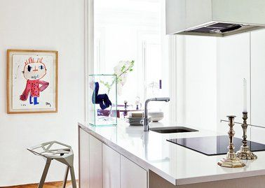 Best Cuisine Blanche White Kitchen Images On Pinterest - Largeur gaziniere pour idees de deco de cuisine
