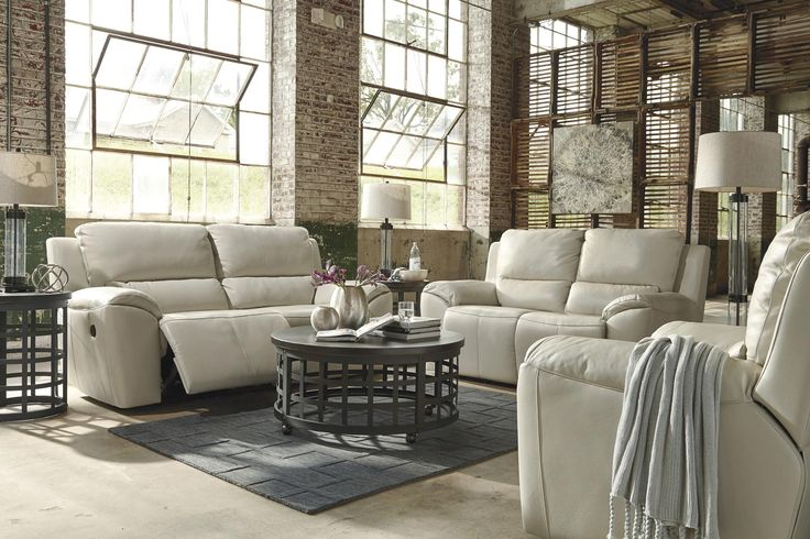 Valeton Power 2 Seat Reclining Sofa in White | Ashley | Home Gallery Stores