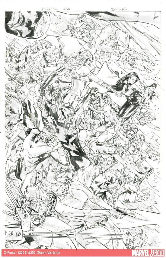 X-Factor #250 variant cover pencils by Clay Mann    http://marvel.com/news/story/19845/first_look_x-factor_250