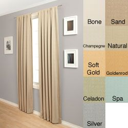 kitchen, 45 @Overstock - Trilogy Rod Pocket 120-Inch Polyester Curtain Panel - This Trilogy 120-inch curtain is just what you need to upgrade the looks of your home. It features an elegant blockout design and various colors to match the color of your room. It has a rod pocket to make hanging and curtain changing quick and easy.  http://www.overstock.com/Home-Garden/Trilogy-Rod-Pocket-120-Inch-Polyester-Curtain-Panel/4211222/product.html?CID=214117 $27.89