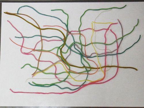 @nifty:デイリーポータルZ:紫キャベツの煮汁で食べられる地下鉄路線図を作る